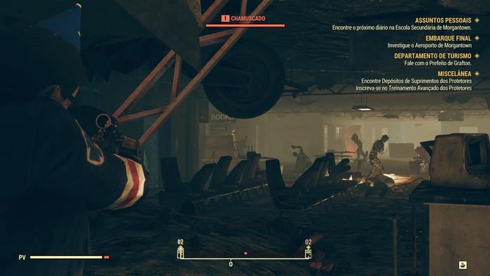 Os gráficos não apresentam melhorias se comparados ao de Fallout 4 (Foto: Reprodução/Murilo Tunholi)