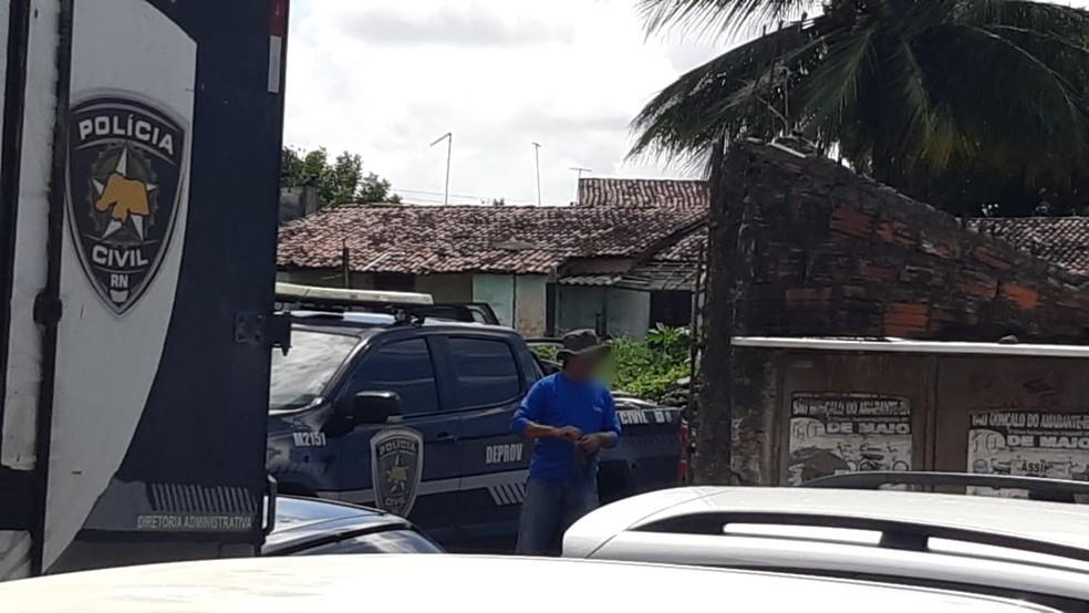 Sucata fica na Zona Norte de Natal  — Foto: Polícia Civil do RN/Divulgação