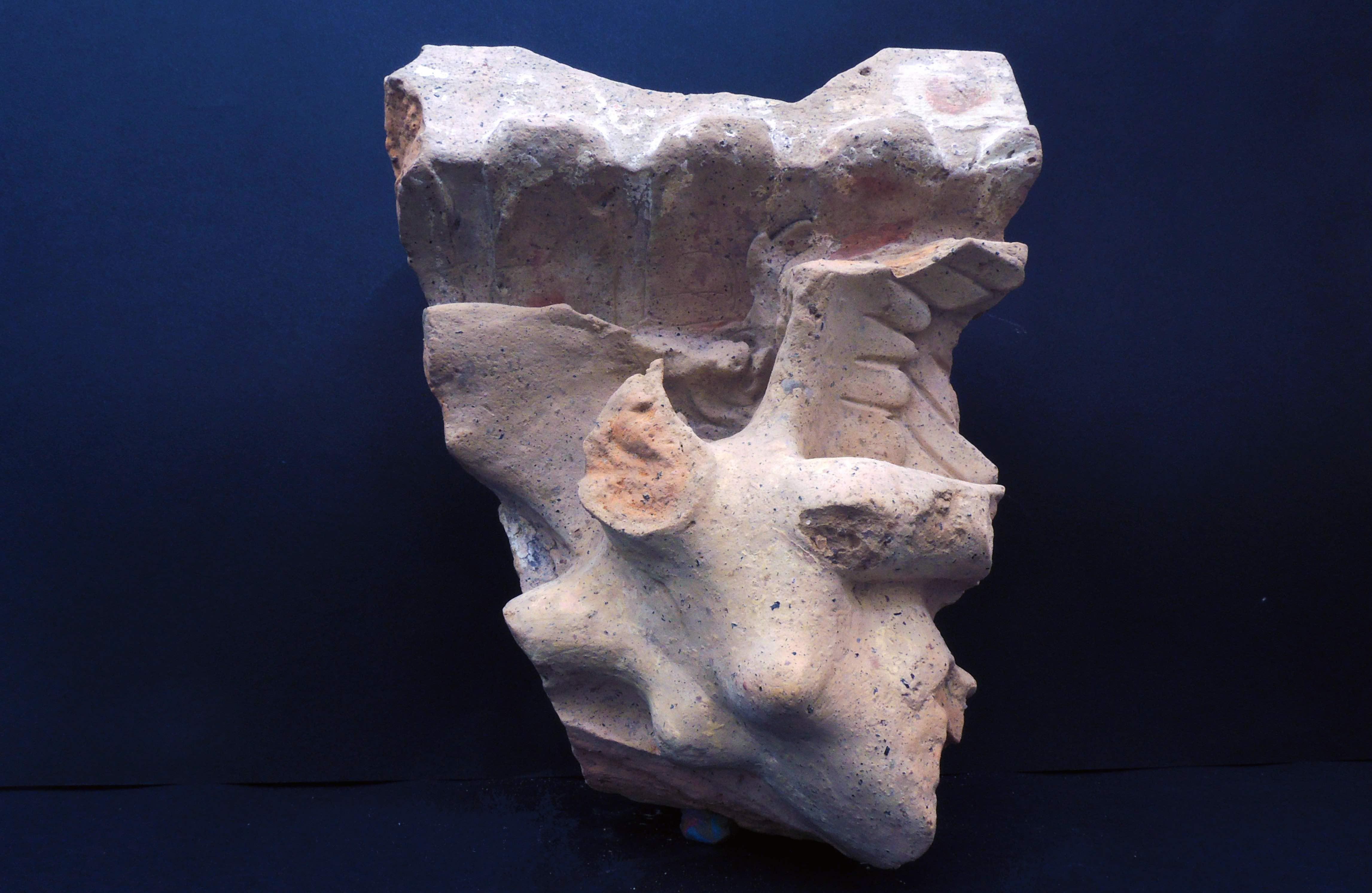 Detalhe da construção indica a presença de um recinto sagrado (Foto: S OPRINTENDENZA SPECIALE DI ROMA)