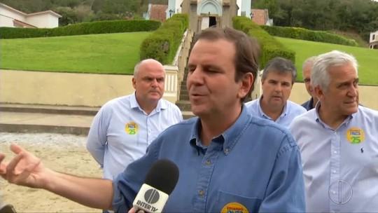 Paes diz que vai incentivar o potencial econômico de cada região do interior do RJ