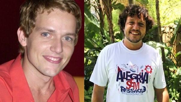 """À esquerda, Edward Boggis com o visual que aparece em """"Sandy & Junior""""; à direita, com aparência recente (Foto: TV Globo / Reprodução)"""