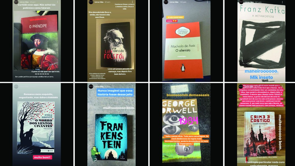 Scarpa posta resenhas de livros nas redes sociais — Foto: Reprodução/Instagram