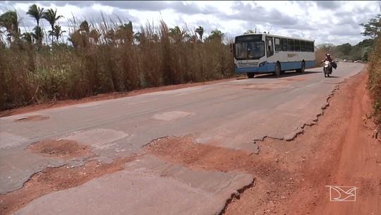 Trecho da MA-026 em Codó apresenta graves problemas de infraestrutura