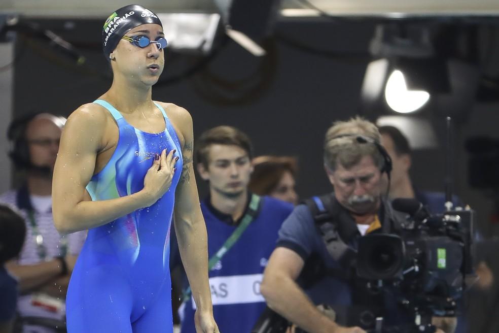 A nadadora Joanna Maranhão é uma das vozes do grupo — Foto: Marcelo Pereira/Exemplus/COB