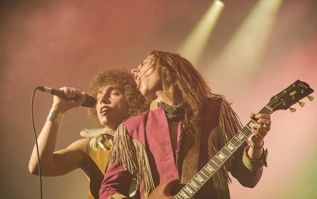 A banda Greta Van Fleet em sua primeira vinda ao Brasil — Foto: Denis Ono/Divulgação