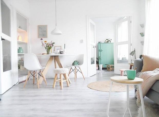 O estilo escandinavo é o favorito de Jess. Em sua casa, ela prioriza grandes espaços vazios e cores sóbrias (Foto: Reprodução/Instagram)