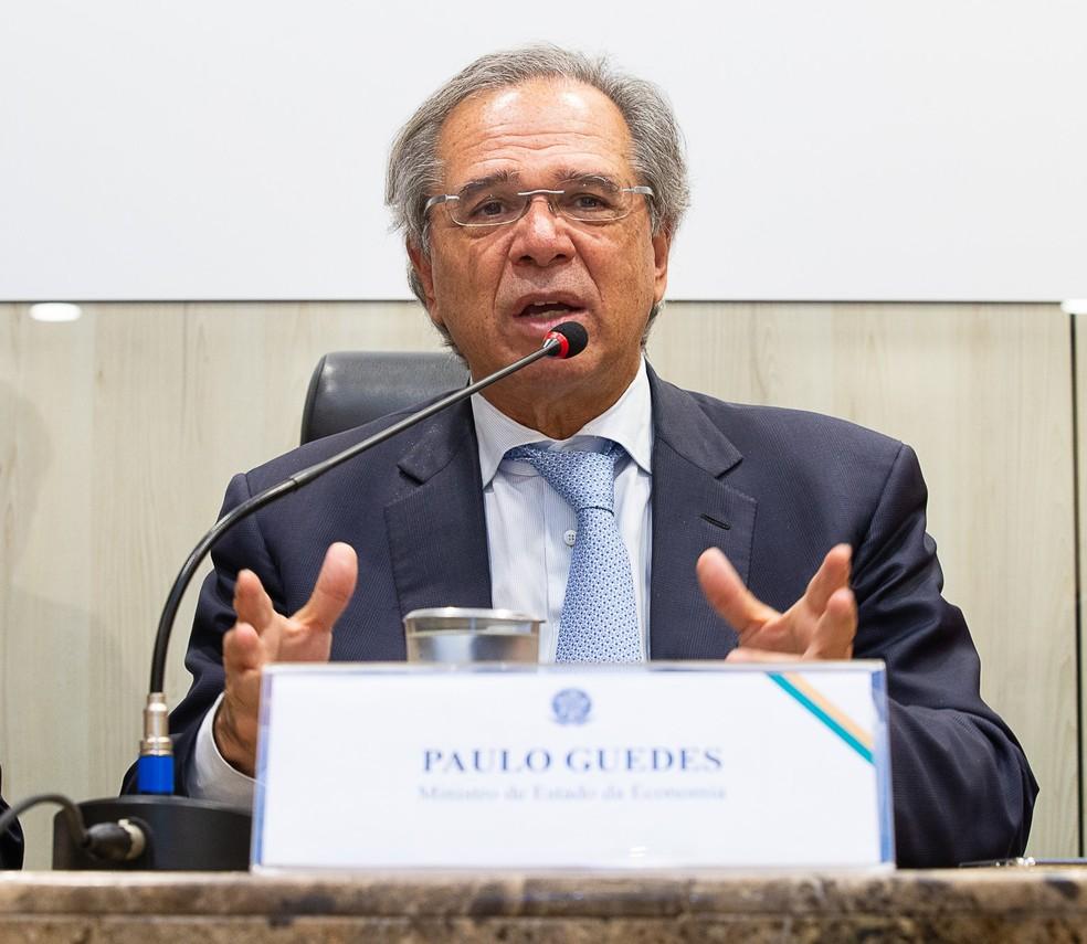 O ministro da Economia, Paulo Guedes — Foto: Washington Costa/Ministério da Economia