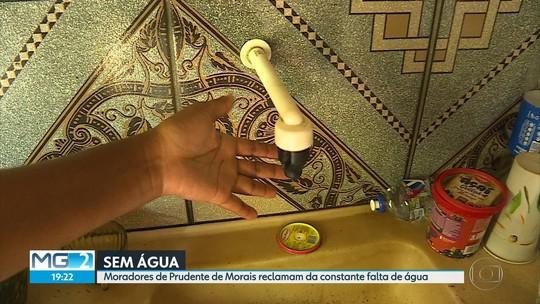 Moradores de Prudente de Morais, na Região Central, reclamam da constante falta de água