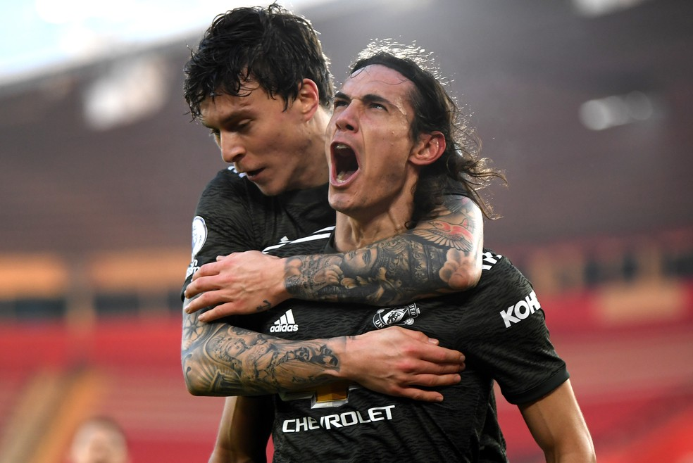 Cavani Manchester United Southampton — Foto: Getty Images