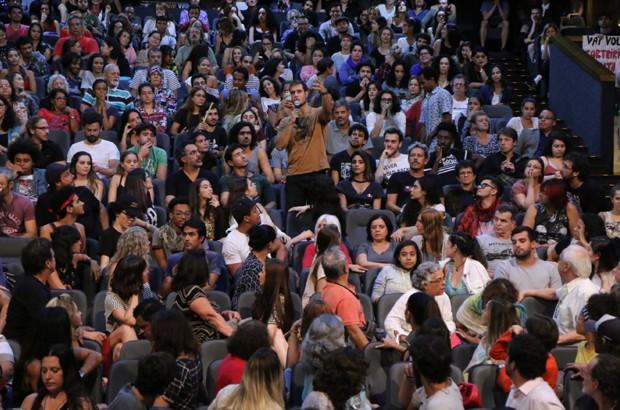 Famosos protestam contra votação do STF pela extinção da obrigatoriedade da DRT (Foto: Daniel Pinheiro/AgNews)