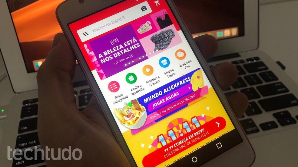 e6325e80b9728 ... Aprenda a comprar no AliExpress pelo celular — Foto: Helito  Beggiora/TechTudo