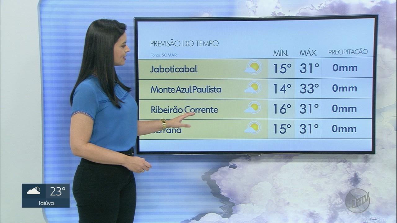 Veja a previsão do tempo para o final de semana em Ribeirão Preto, SP