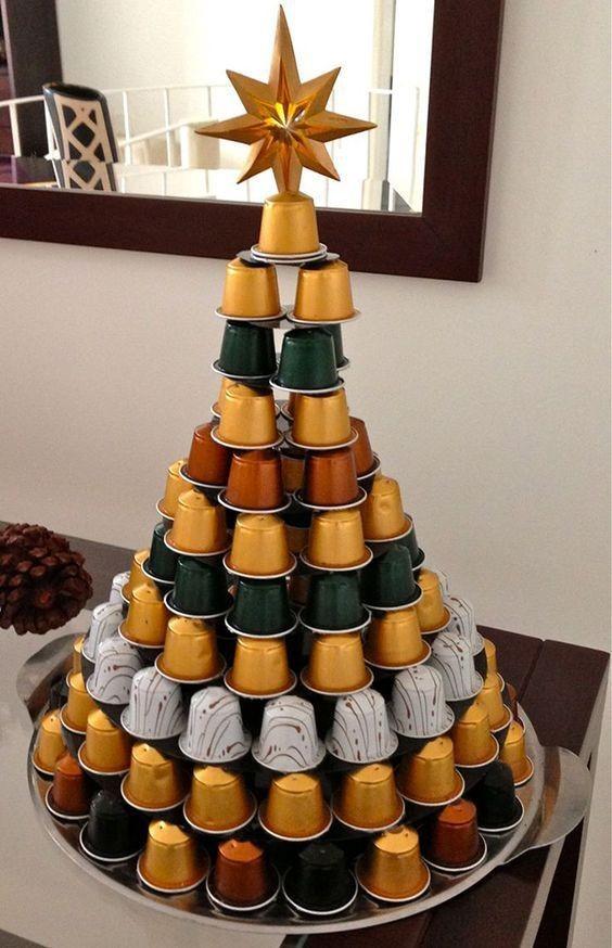 Árvore de Natal diferente (Foto: Reprodução Pinterest / Frescuras da Tati)
