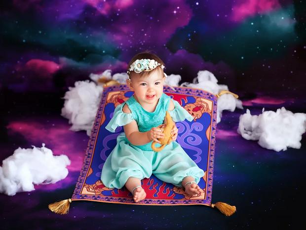 Jasmine, de Aladdin, com 1 ano de idade (Foto: Karen Marie)
