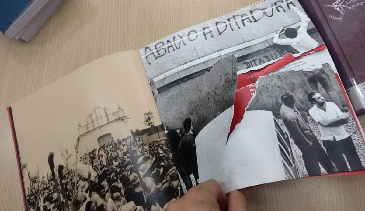"""Foto da matéria """"Livros de direitos humanos são rasgados na biblioteca da UnB"""""""