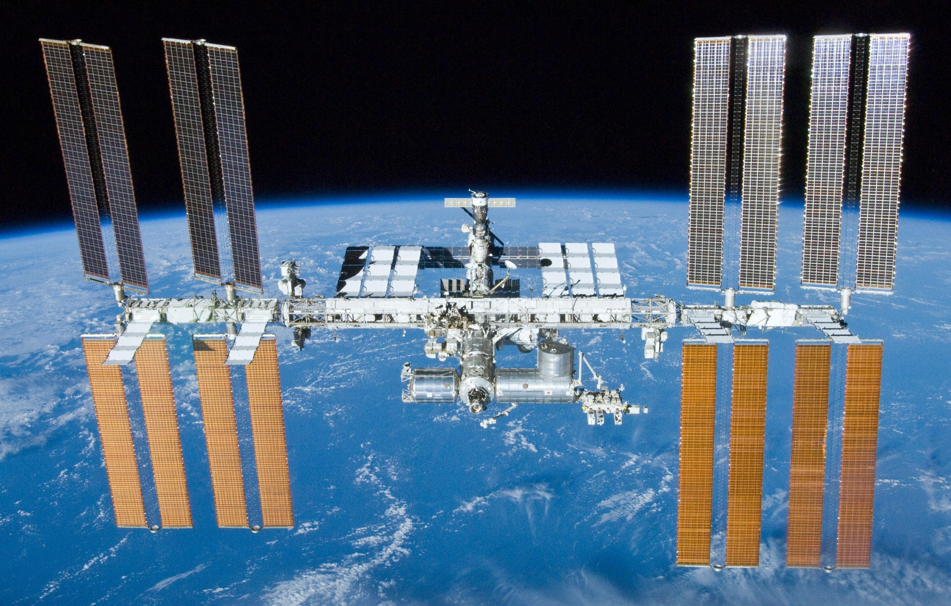 A Estação Espacial Internacional estará visível graças à passagem e boas condições climáticas (Foto: NASA/Crew of STS-132)
