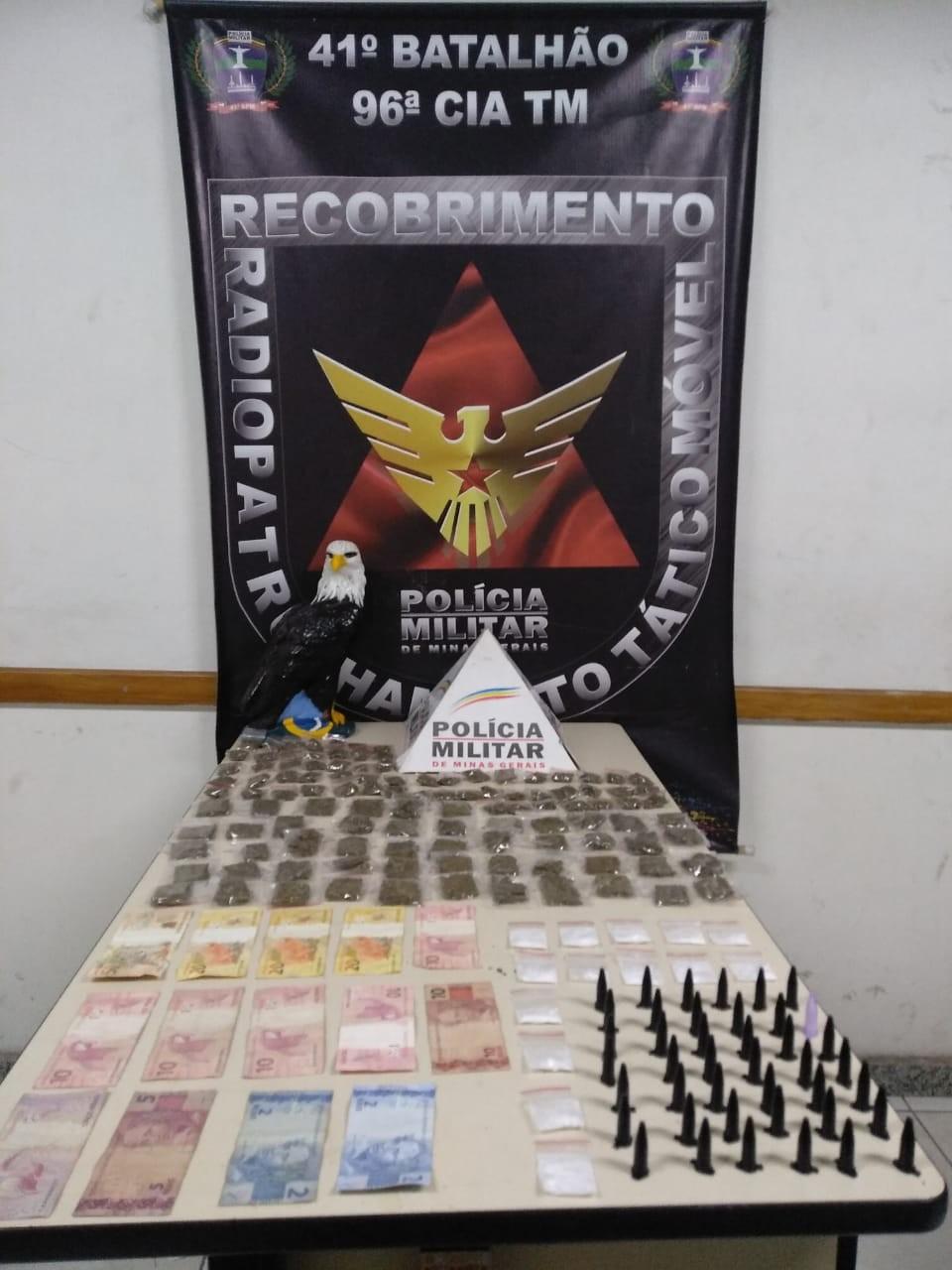 Polícia prende suspeitos de envolvimento com tráfico de drogas no Barreiro, em BH