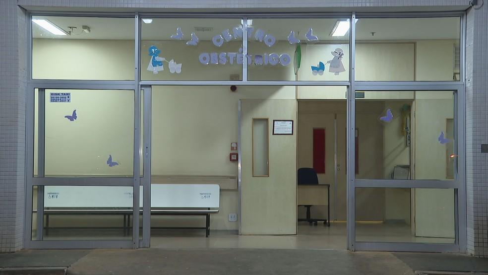 Centro Obstétrico do Hospital Regional de Santa Maria, no Distrito Federal — Foto: TV Globo/Reprodução