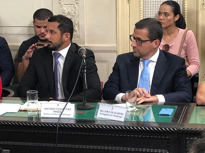 Dirigentes não compareceram e Flamengo enviou como representantes à Alerj seu diretor jurídico e um advogado — Foto: Caíque Andrade