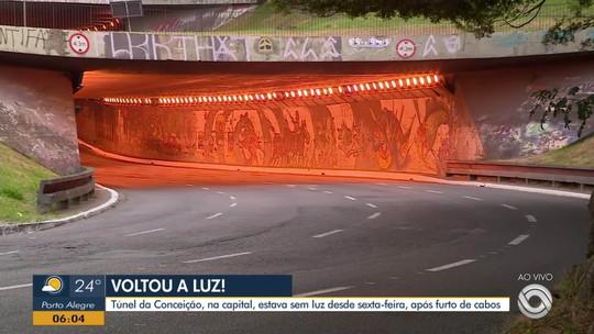 Túnel Da Conceição Em Porto Alegre Amanhece Iluminado Nesta Terça Feira 21