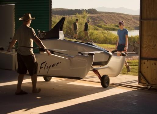 O Flyer é o primeiro veículo pessoal de voo criado pela Kitty Hawk nos Estados Unidos (Foto: Reprodução)
