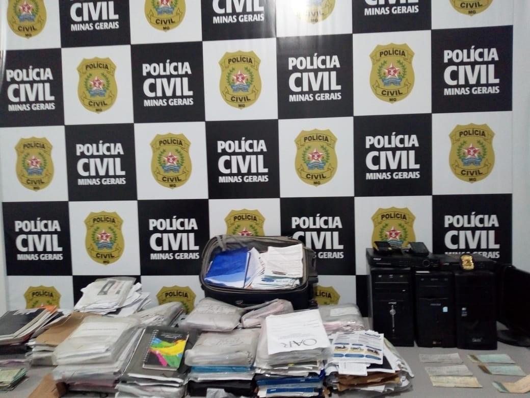 Polícia Civil desmantela quadrilha que aplicou mais de R$ 5 milhões em golpes de consórcio em MG e no ES