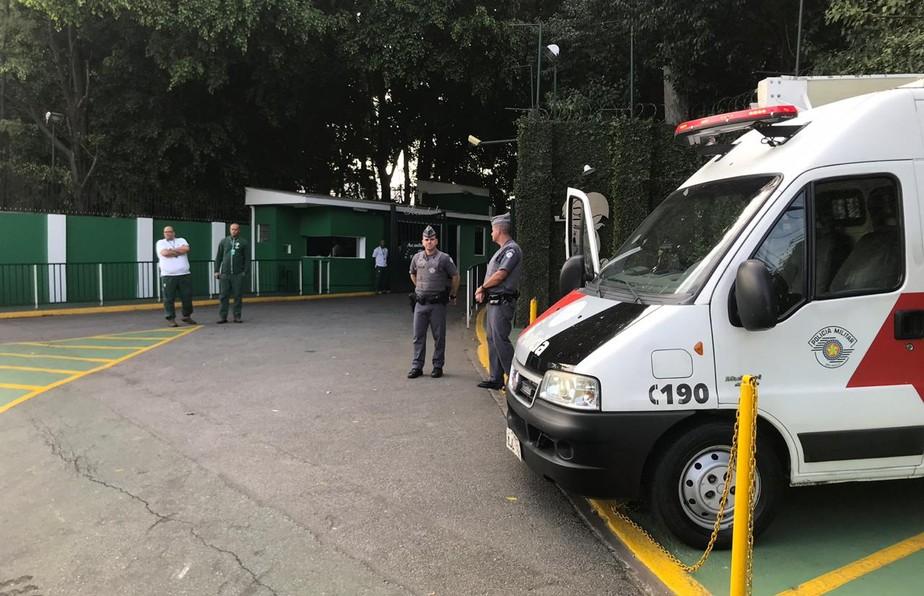 Palmeiras reforça segurança na Academia e volta a treinar após eliminação na Libertadores