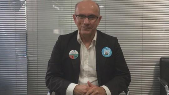 Candidato ao governo de SC Rogério Portanova (REDE) responde perguntas do G1