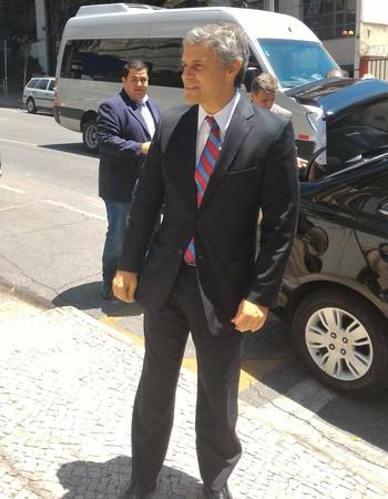 Presidente do Fluminense Peter Siemsen reunião Liga Sul-Minas-Rio (Foto: Vicente Seda)