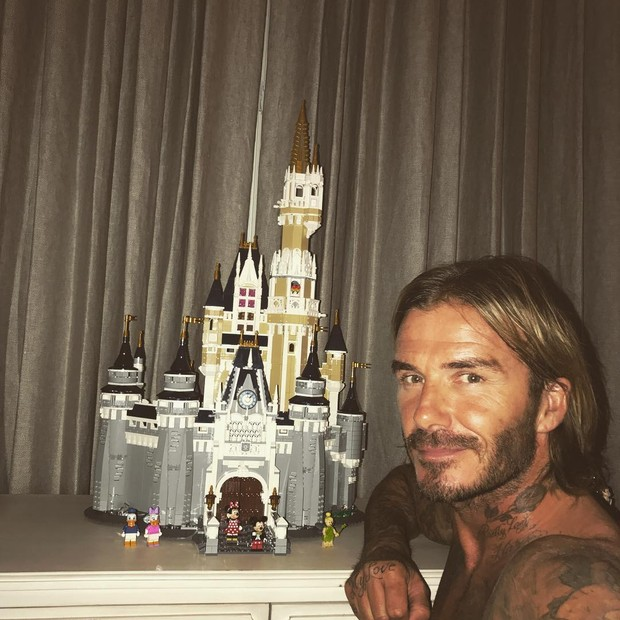 Um lindo castelo, por David Beckham (Foto: Reprodução/ Instagram)