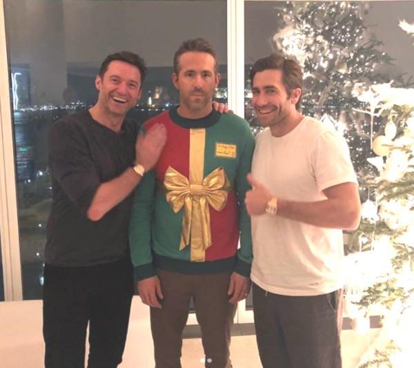 Ryan Reynolds, Hugh Jackman e Jake Gyllenhaal (Foto: Instagram)