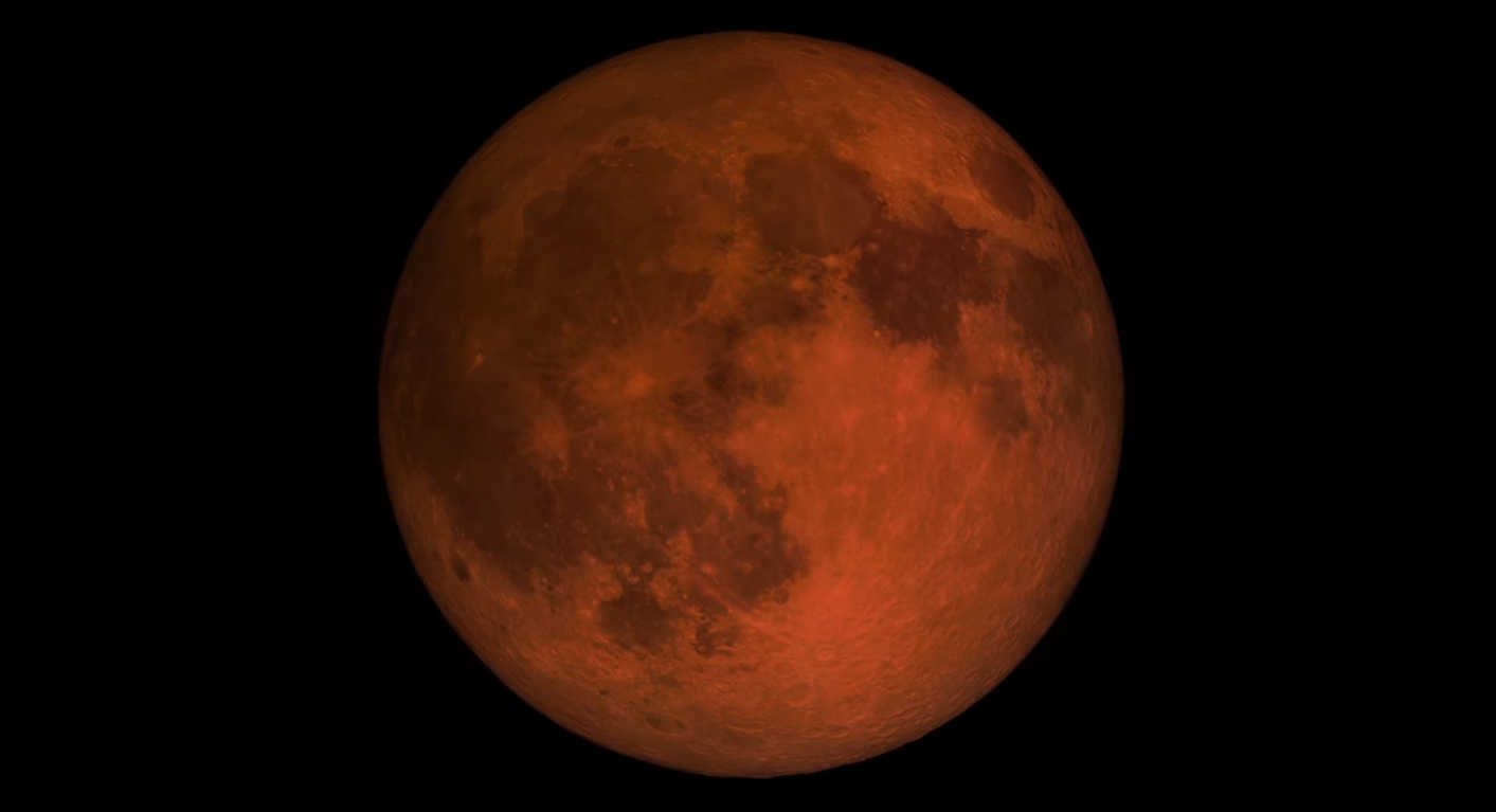 "Superlua de ""sangue"" (Foto: Nasa)"