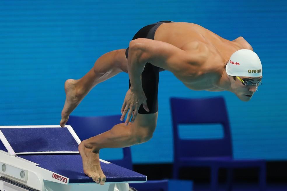 Marcelo Chierighini semifinal 100m livre mundial natação budapeste (Foto: Satiro Sodré/SSPress/CBDA)