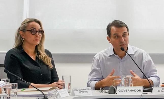 Daniela Reinehr e Carlos Moisés
