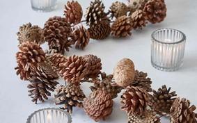 12 ideias de enfeite de Natal com pinha