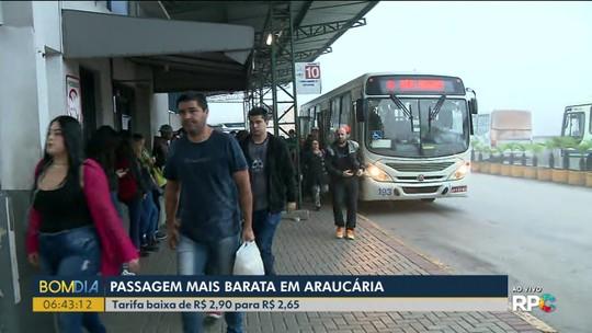 Passagem de ônibus fica mais barata em Araucária