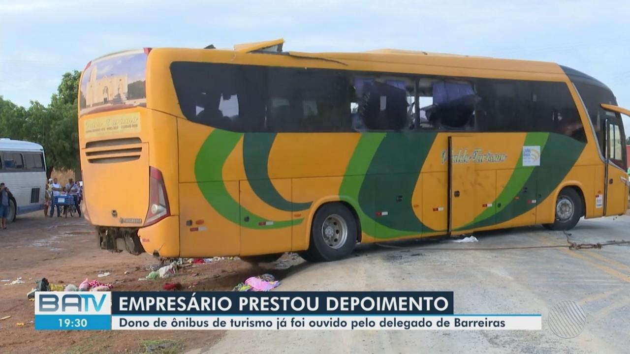 Responsável por empresa de ônibus envolvido em acidente em Barreiras presta depoimento