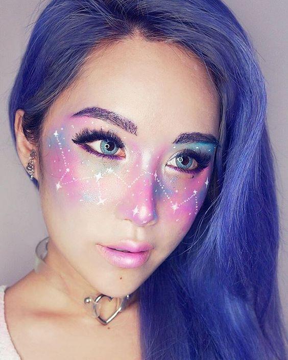 Maquiagem celestial  (Foto: Pinterest )
