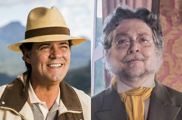 Felipe Camargo e Kiko Mascarenhas (Foto: João Miguel Júnior/ TV Globo)