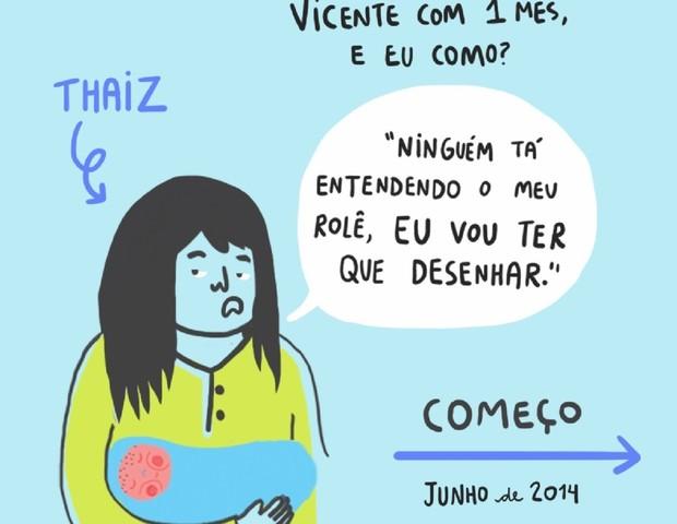 """Tirinhas com humor sarcástico são a """"marca"""" do Mãe Solo, projeto de Thaiz Leão (Foto: Reprodução Instagram)"""