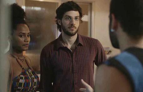 Na quarta (15), Danilo (Chay Suede) vai descobrir que Thelma (Adriana Esteves) armou para que Camila (Jéssica Ellen) engravidasse Reprodução