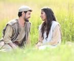Guilherme Dellorto e Juliana Xavier como José e Maria na estreia de 'Jesus' | Munir Chatack/Record