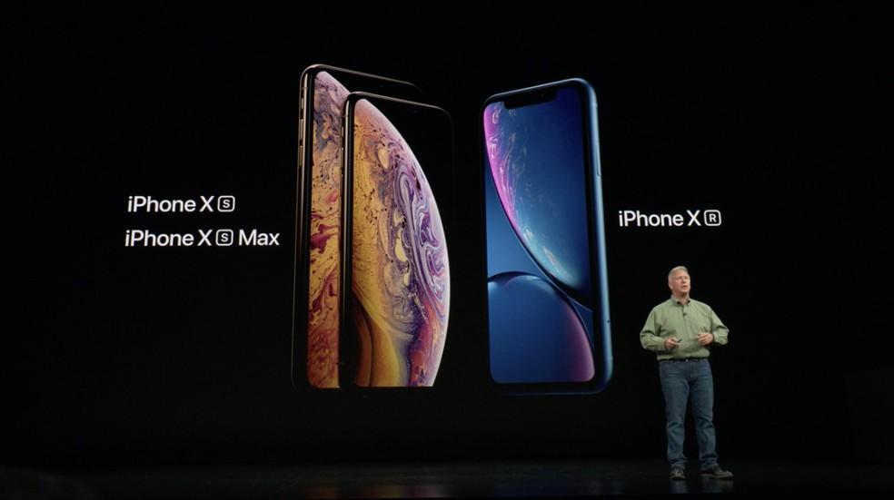Lançamentos de 2018: iPhone XS, iPhone XS Max e iPhone XR — Foto: Reprodução/Apple