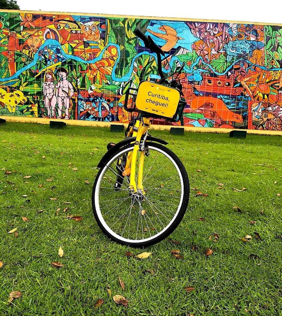 Serviço de compartilhamento de bicicletas e patinetes elétricos é lançado em Curitiba — Foto: Divulgação/Yellow