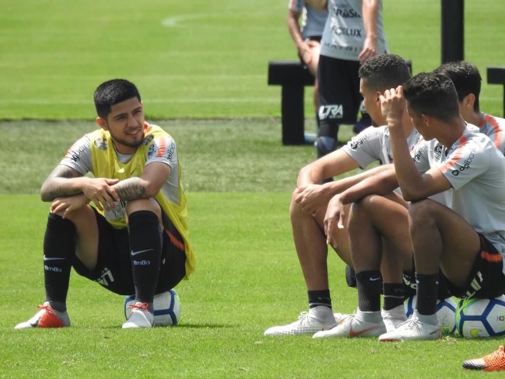 Sergio Diaz fez apenas dois jogos pelo Corinthians em 2018 — Foto: Marcelo Braga