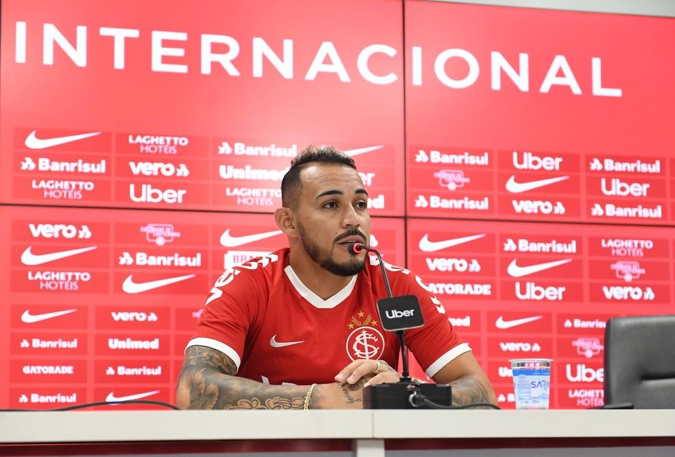 Natanael chega para suprir saída de Iago — Foto: Ricardo Duarte/Divulgação Inter