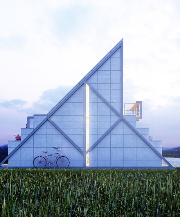 Visão lateral da construção (Foto: Behance/ Reprodução)
