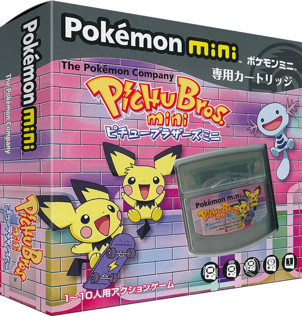 Lançado com exclusividade no Japão, Pichu Bros. mini é um dos jogos do Pokémon Mini e compila seis minigames em um único título — Foto: Divulgação/Nintendo