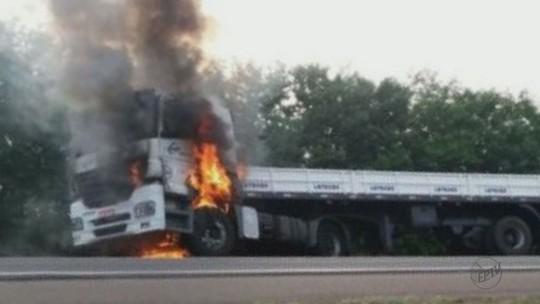Bombeiro morre atropelado após apagar incêndio de caminhão em Conchal, SP