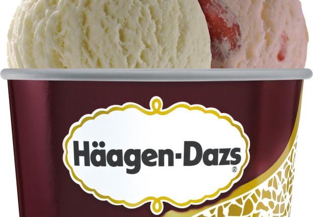 Sorvete da Haagen Dasz. Marca está fechando suas sorveterias próprias no Brasil (Foto: Facebook/Haagen Dasz)
